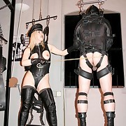 Malesub is in the leather suspension