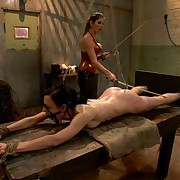 Mistress fucked slavegirl and caned