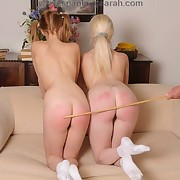 Sarah caned two pretty young women to tears