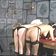 Bad maids gets spanked hard