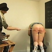 Young and smutty harlots spanked and paddled on their pert little bottoms