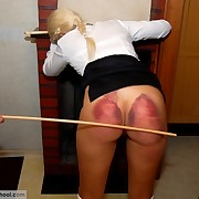 Poor schoolgirl got hardcore caning from teacher till ass got bruised