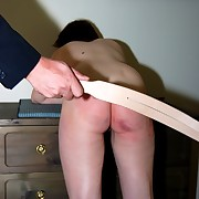 Bent over fully stripped for a furious corporal punishment