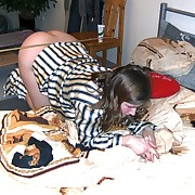 Pajamas off and big ass off teeny was caned on her bed