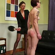 Female whipping, footdom, strapon sex