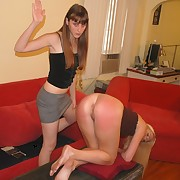 Lustful lassie has savage spanks on her prat
