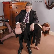 The boss spanked bad secretary otk