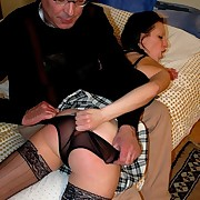 Hot dark brown taken OTK and soundly spanked