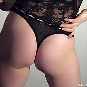 The blonde chick getting spanked brutally