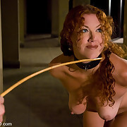 Master and goddess torment a slavegirl