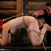 There is brutal bondage, predicament bondage, heavy impact, bizarre torture, and intense orgasms ripped from her bondman pussy