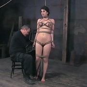 Tied over a daybed roll, marina begins off getting caned while that babe sucks PD�s cock.