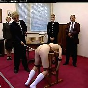 Caning of blonde girl