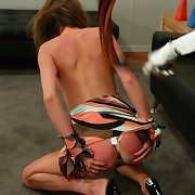 Lezdom anal and slit torture and whipping
