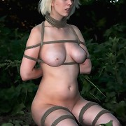 Slave Cherry Torn walked in the park