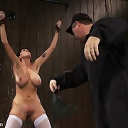 Slave milf is bound, whipped and tickled