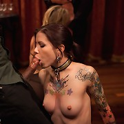 Mallory in straight jacked fisted by Aiden Starr and crowd.
