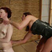 Slavegirl get spanked and caned