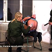 Blonde babe was tied and punished