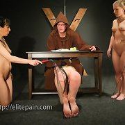 Slaves were bound and punished