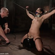 Girl a-hole fucked in suspension slavery and chains