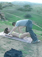 Unspecified racking malesub` cock and balls outdoor