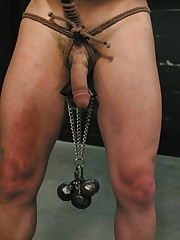 Hard pain of male slave