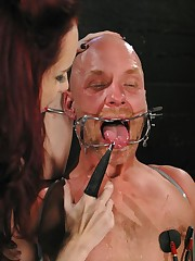 The cruel redhead mistress humiliated malesub