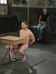 Domme punished and fucked malesub