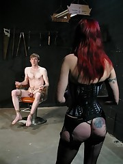 Mistress is doing cbt on man