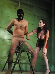 Mistress tied and dominated malesub