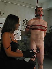 Strict teacher humiliated a tied man