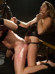 Hung sub whipped and made fuck his cruel Mistress