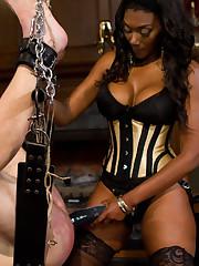 Mistress made a man dress female panties and humiliata and facesit him