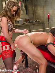 The dominant wife cuckolded her bad husband, smothered, spanked and fucked him by strapon