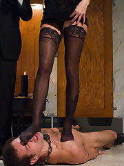 The lady dominated her husband by cuckolding and flogging and strapon