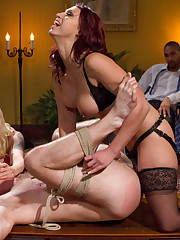 The dominatrix cuckolding her man and made him eat cum