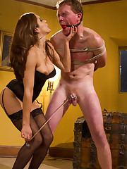 Husband was punished, fucked and cuckolded