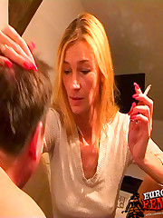 Smoking and foot domination with Mia