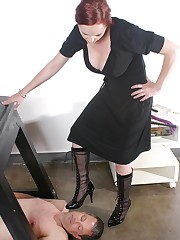 Mistress tramples by heels