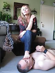 Slaveboy licks toes