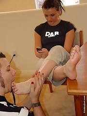The boyfriend is sucking toes