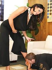 Tattoo mistress sat on slave's face