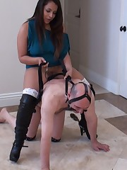 Today Mistress riding her slave like a horse