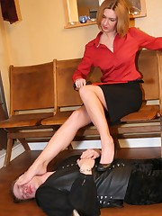 Submissive man was trampled