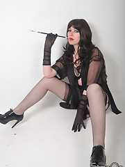Strapon mistress smoking