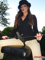 Mistress posing outdoor