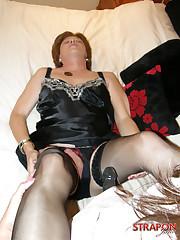 Mistress fucked sissy boy by strapon