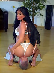 Hot facesitting gallery with cool Mistress and her helpless slave