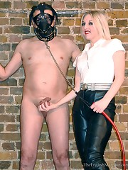Domina tormented malesub in the dungeon